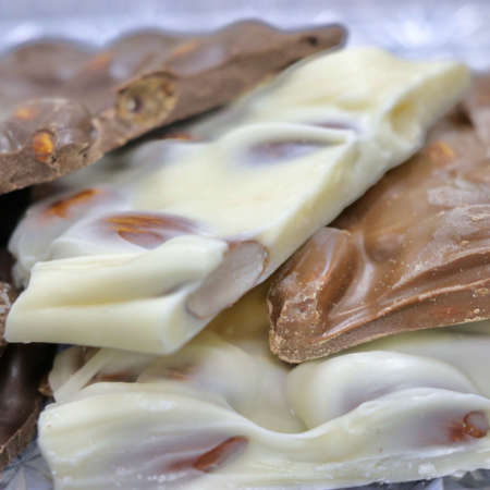 White Chocolate, Chocolate Almond, or Dark Chocolate Bark from Nauvoo Fudge Factory